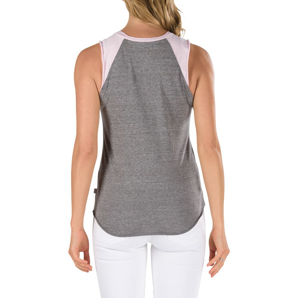 CAREFREE-MUSCLE-RAGLAN-GREY-HEATHER-PINK-LADY