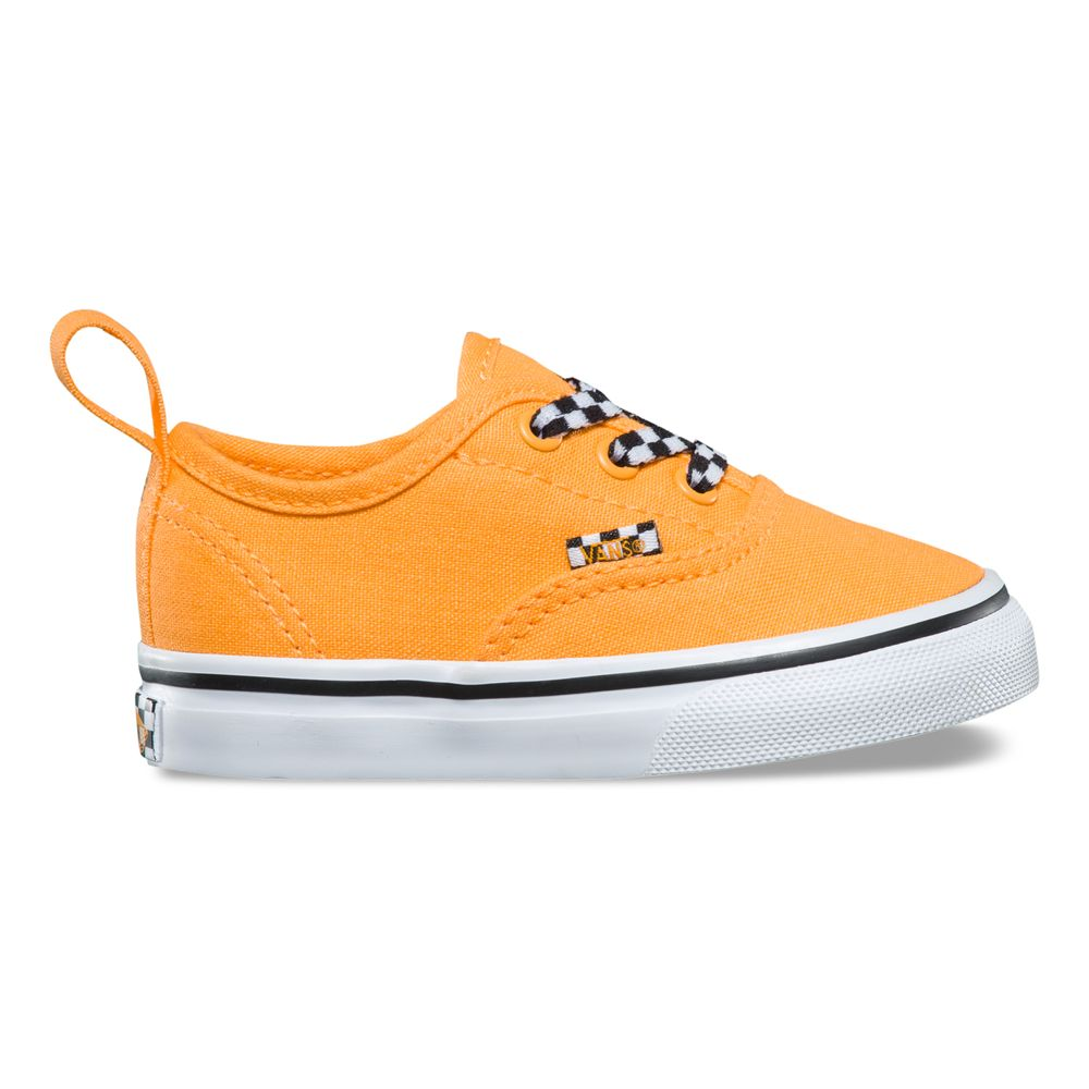 AUTHENTIC-ELASTIC-LACECHECK-LACE-ORANGE-POP-TRUE-WHITE