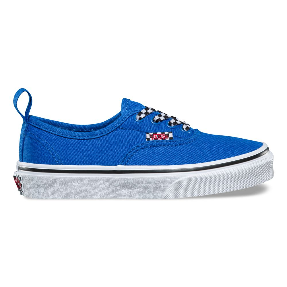 AUTHENTIC-ELASTIC-LACECHECK-LACE-VICTORIA-BLUE-TRUE-WHITE