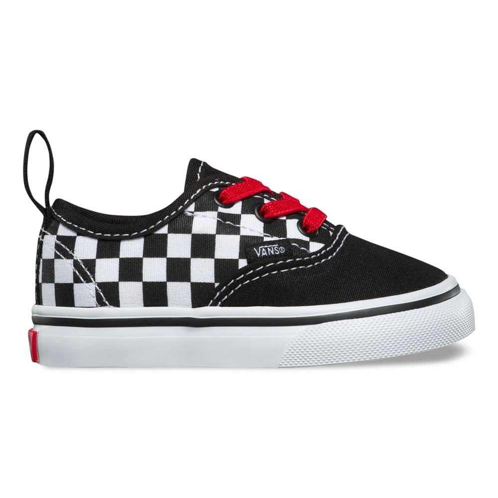 Authentic-Elastic-Lace---Color--Checker-Black-Red-True-White---Talla---7M