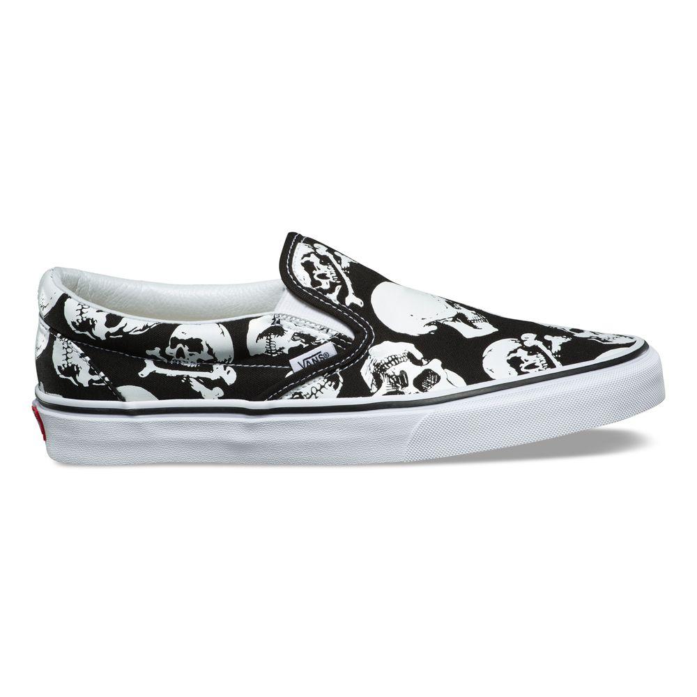Classic-Slip-On---Color--Skulls-Black-True-White---Talla---9.5M