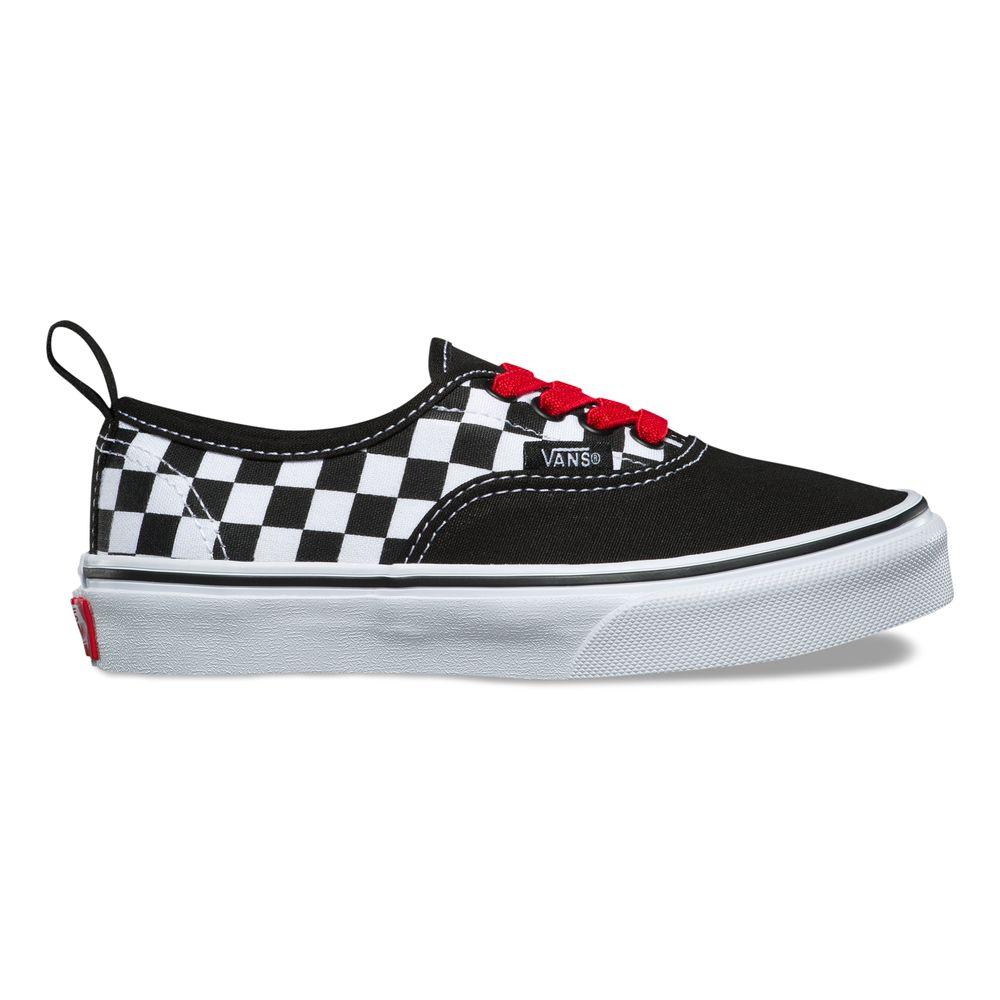 Authentic-Elastic-Lace---Color--Checker-Black-Red-True-White---Talla---4M