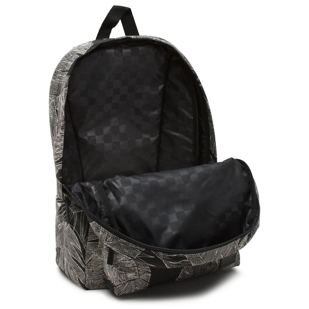 Deana-Iii-Backpack---Color--Black-Palm-Fronds---Talla--OS