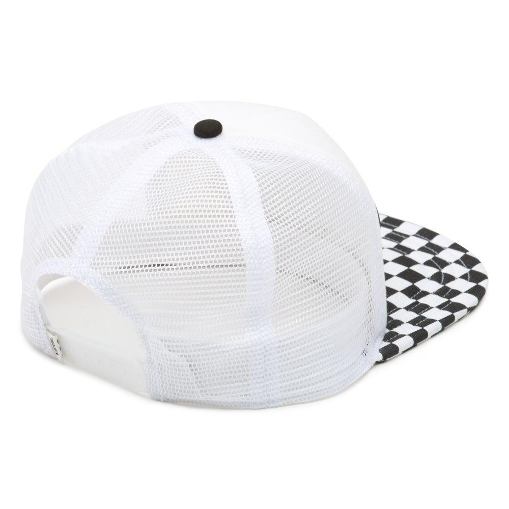 Beach-Girl-Trucker-Hat---Color--Black-White-Checkerboard---Talla--OS