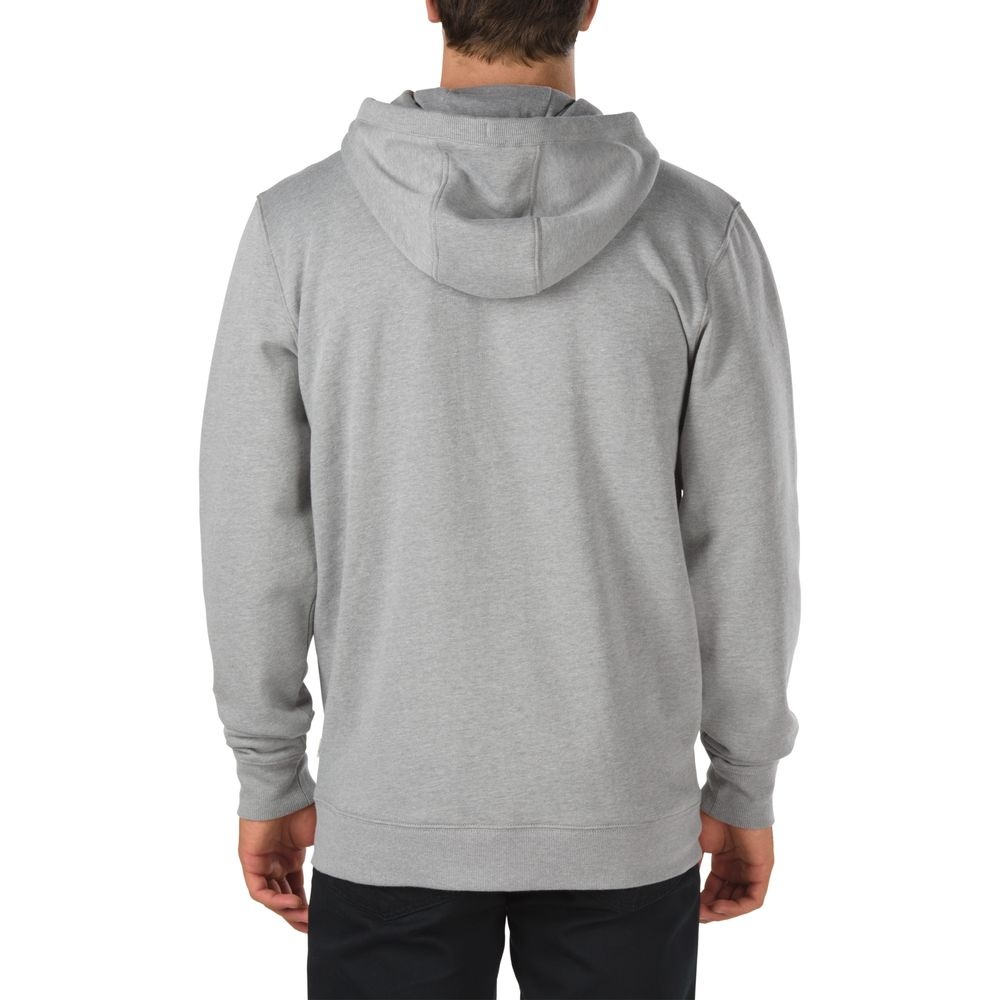 Footwear-Classic-Zip-Hoodie---Color--Cement-Heather-Black---Talla--L