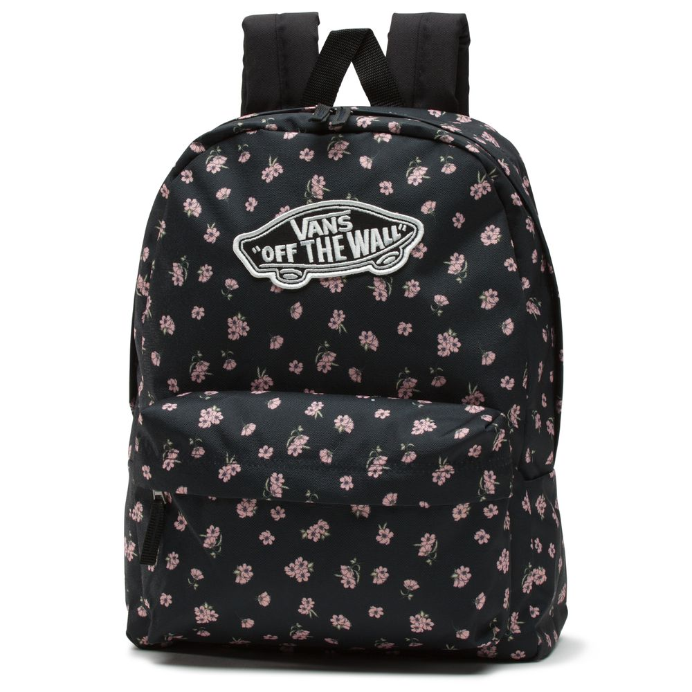 Realm-Backpack---Color--Black-Ditsy-Poppy---Talla--OS