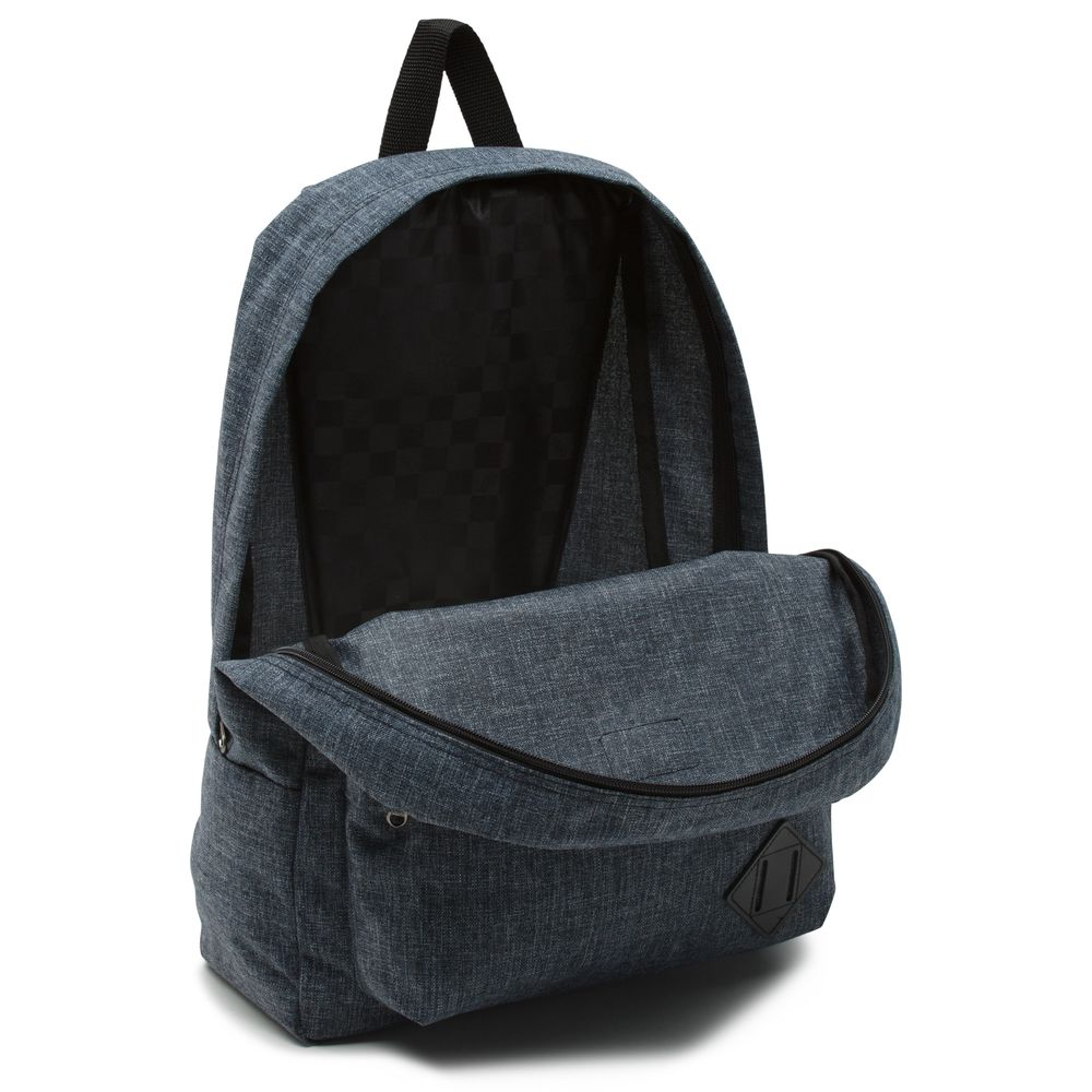 Old-Skool-Ii-Backpack---Color--Heather-Black-Suiting---Talla--OS