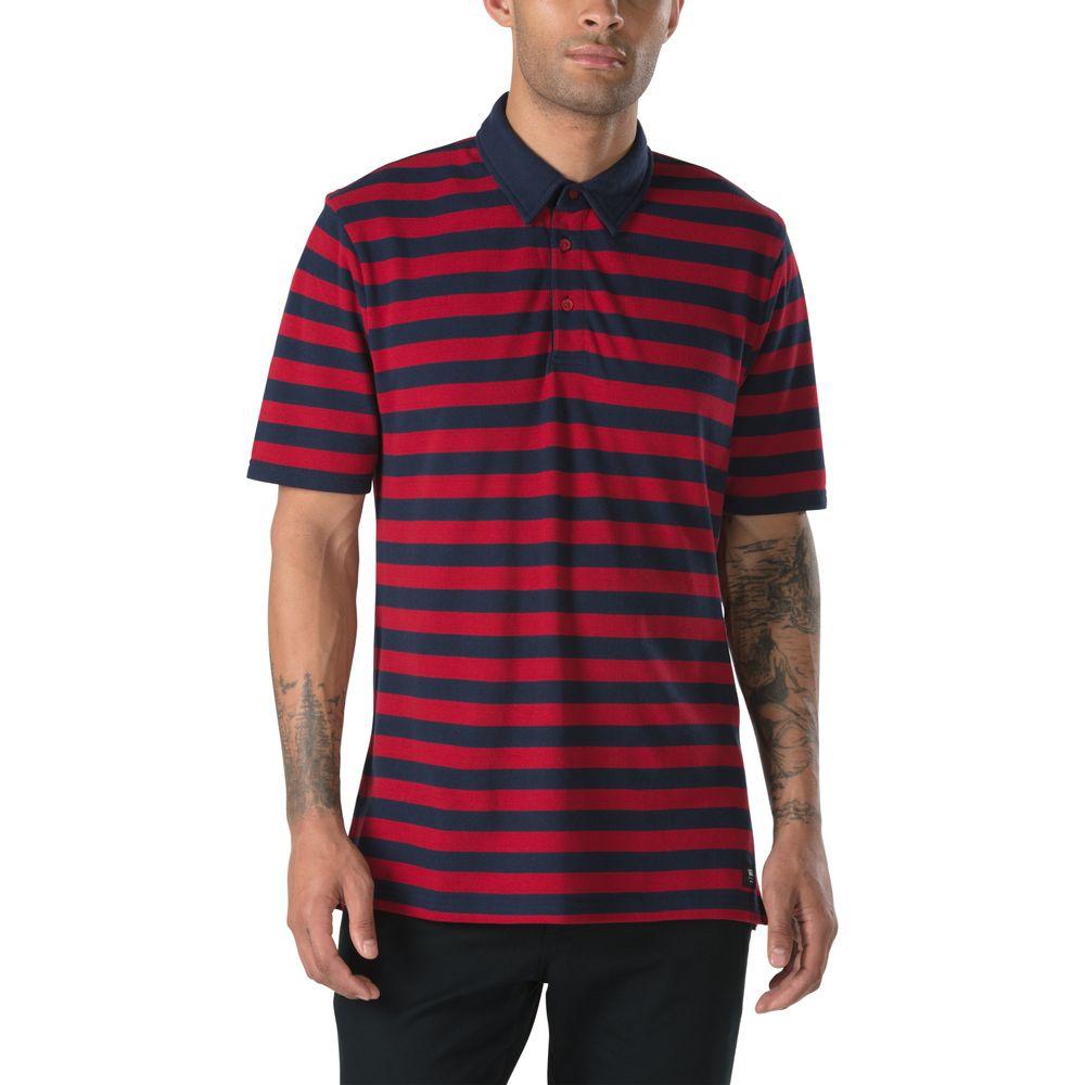 Chima-Striped-Polo---Color--Chili-Pepper-Dress-Blues---Talla--L