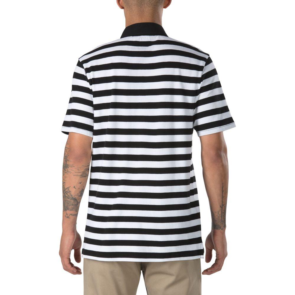 Chima-Striped-Polo---Color--Black-White---Talla--L