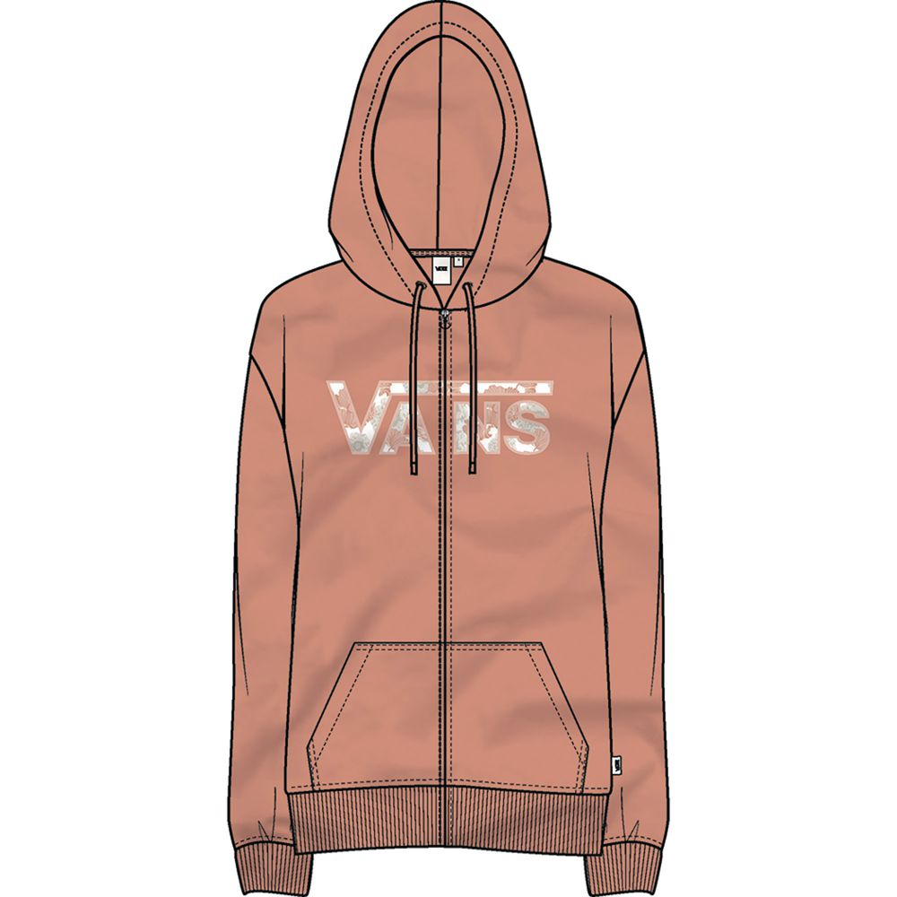 Poppy-Dream-Zip-Hoodie---Color--Muted-Clay---Talla--XS