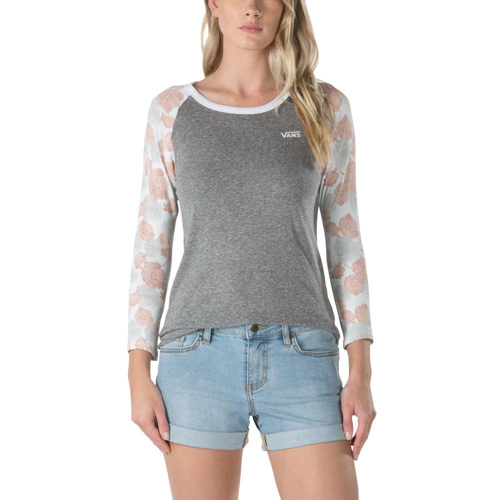 Poppy-Dream-Raglan---Color--Grey-Heather-Poppy---Talla--XS