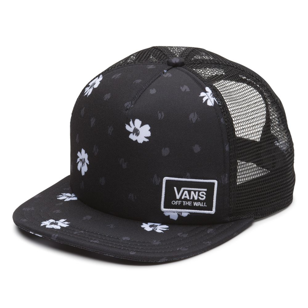 Beach-Bound-Trucker---Color--BLACK-ABSTRACT-DAISY---Talla---OS
