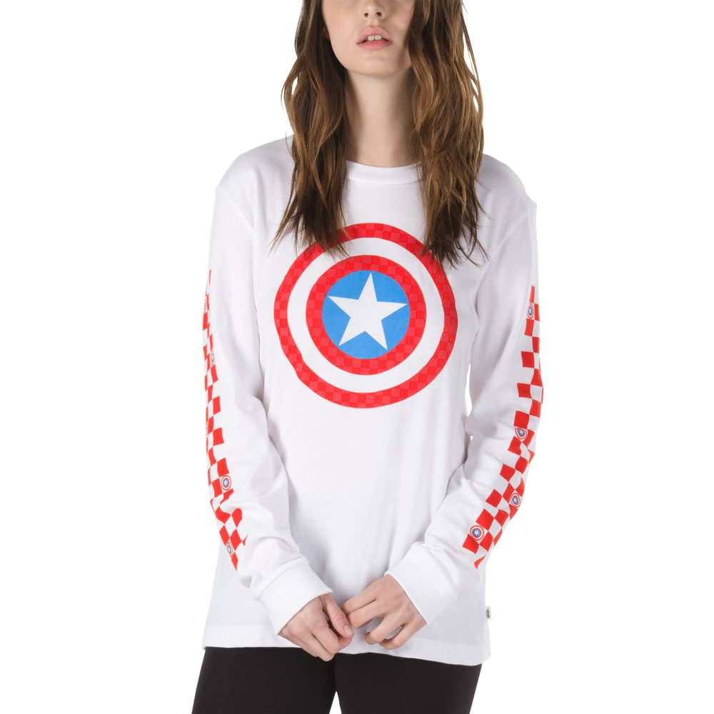Captain-Shields-Ls-Bf-Tee---Color--WHITE---Talla---XS