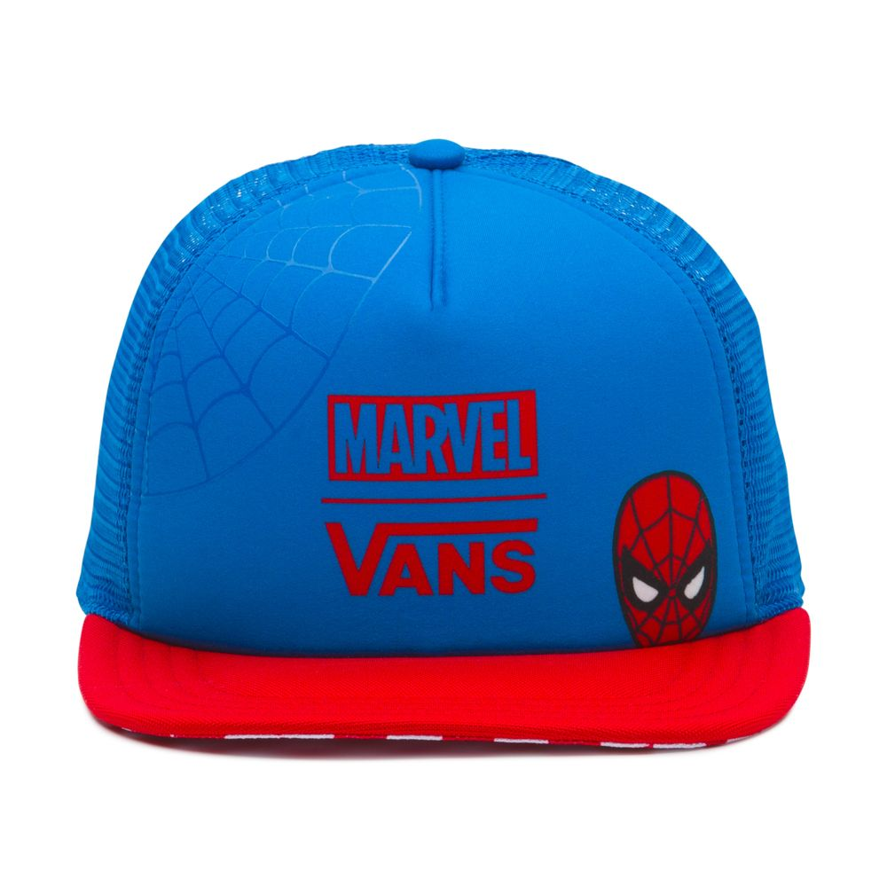 Spidey-Trucker-Hat---Color--INDIGO-BUNTING-RACING-RED---Talla---OS