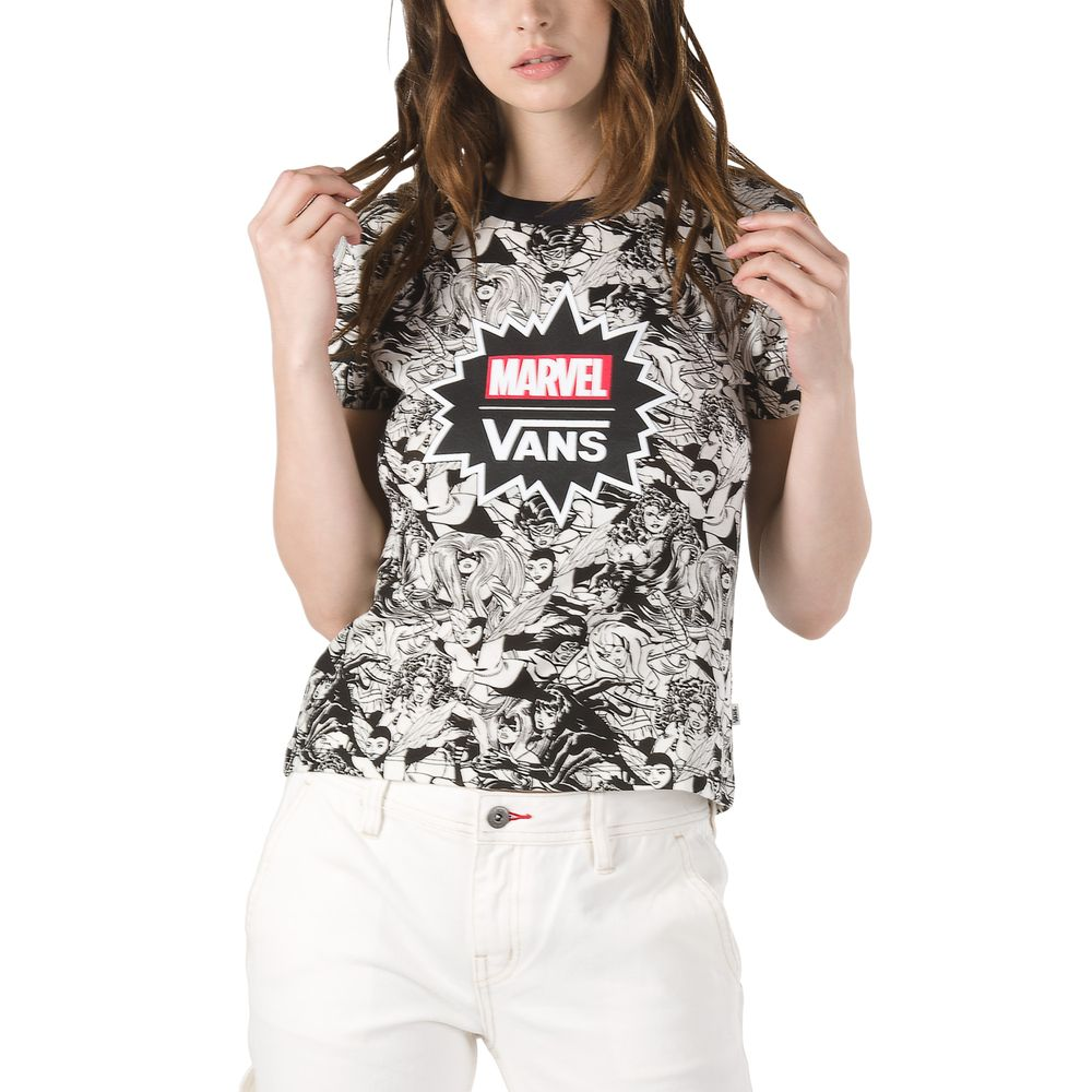 Marvel-Women-Baby-Tee---Color--BLACK---Talla---XS