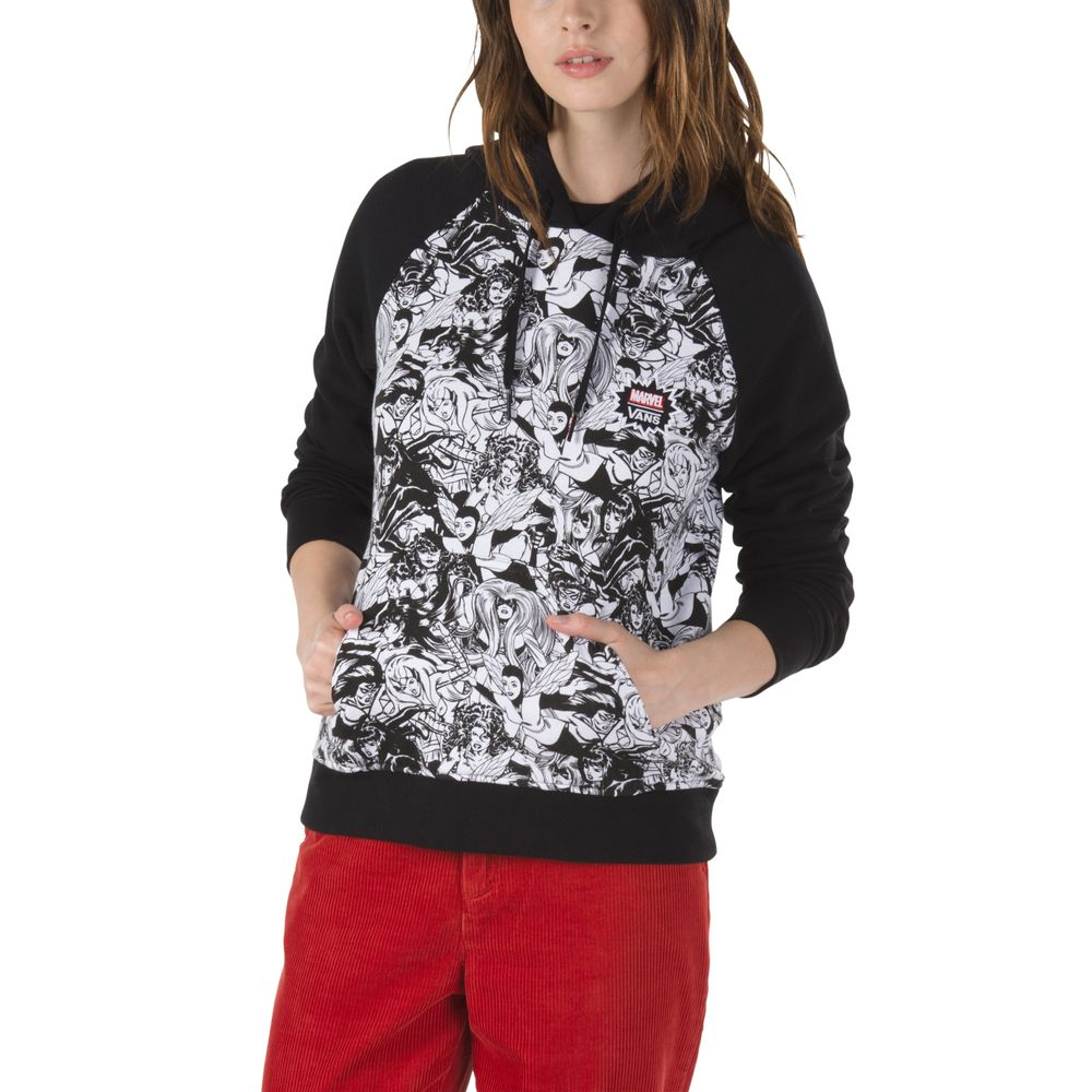 Marvel-Women-Hoodie---Color--BLACK---Talla---S