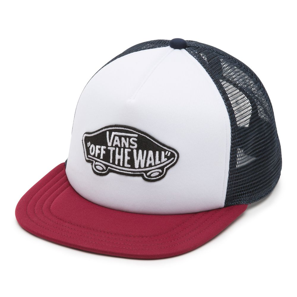 Classic-Patch-Trucker----White-Rhumba-Red--OS