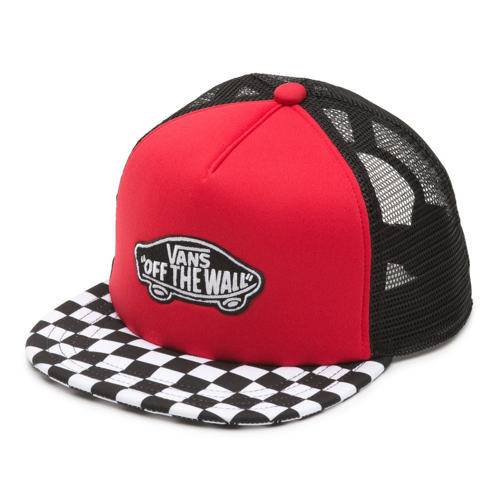 Classic-Patch-Trucker-Plus-Boys----Racing-Red--OS