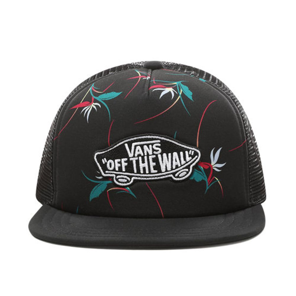Classic-Patch-Trucker-Plus-Boys----Black-Open-Shade-Floral--OS