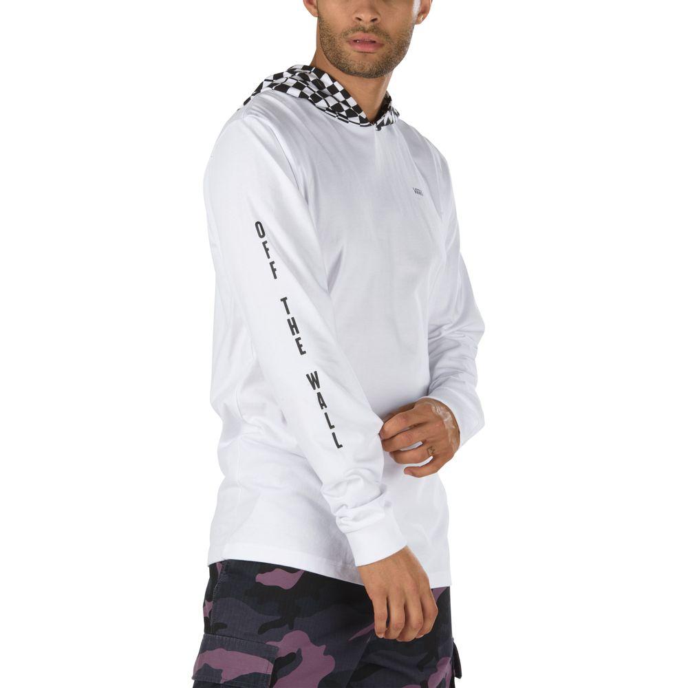 Van-Doren-Hooded-Tee----White-Checkerboard--S