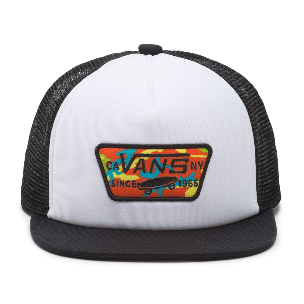 Full-Patch-Trucker-Boys----White-Black--OS