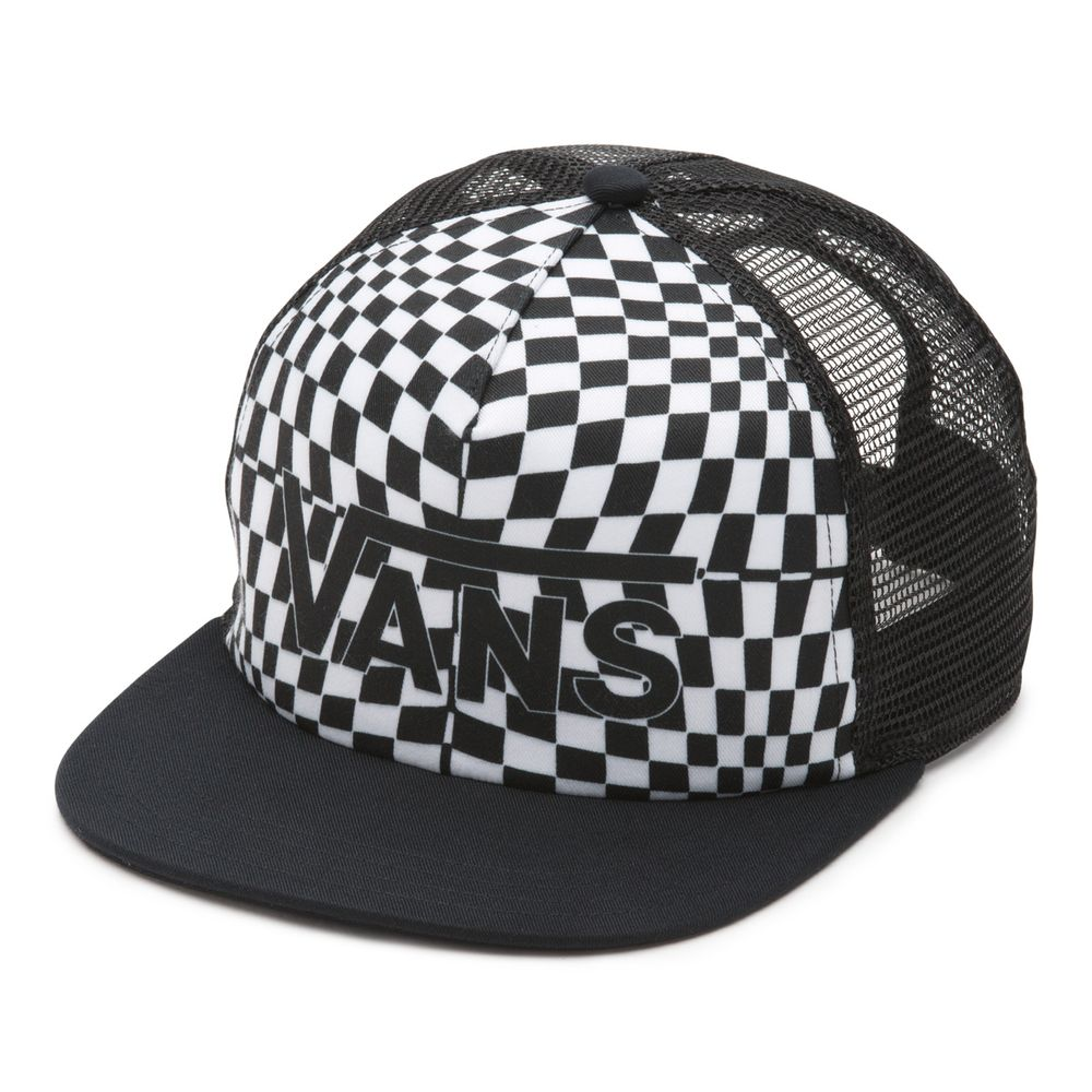 Spring-Break-Trucker----Black-Warp-Check--OS