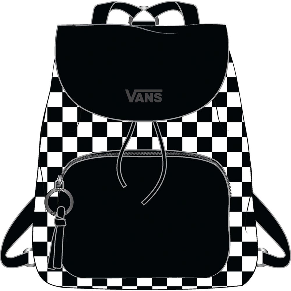 Free-Spirit-Backpack----Black-White-Checkerboard--OS