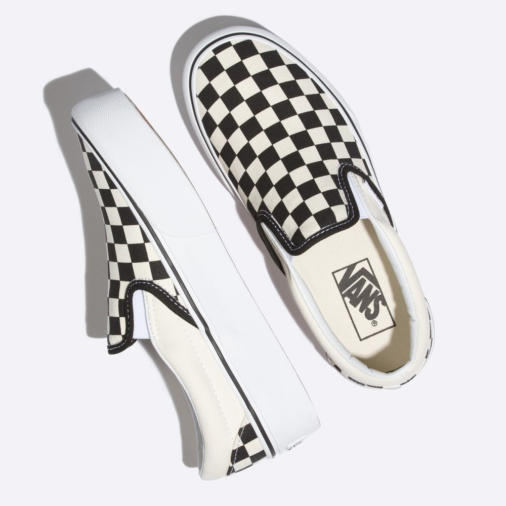 Classic-Slip-On-Platform----BLACK-AND-WHITE-CHECKER-WHITE--5M