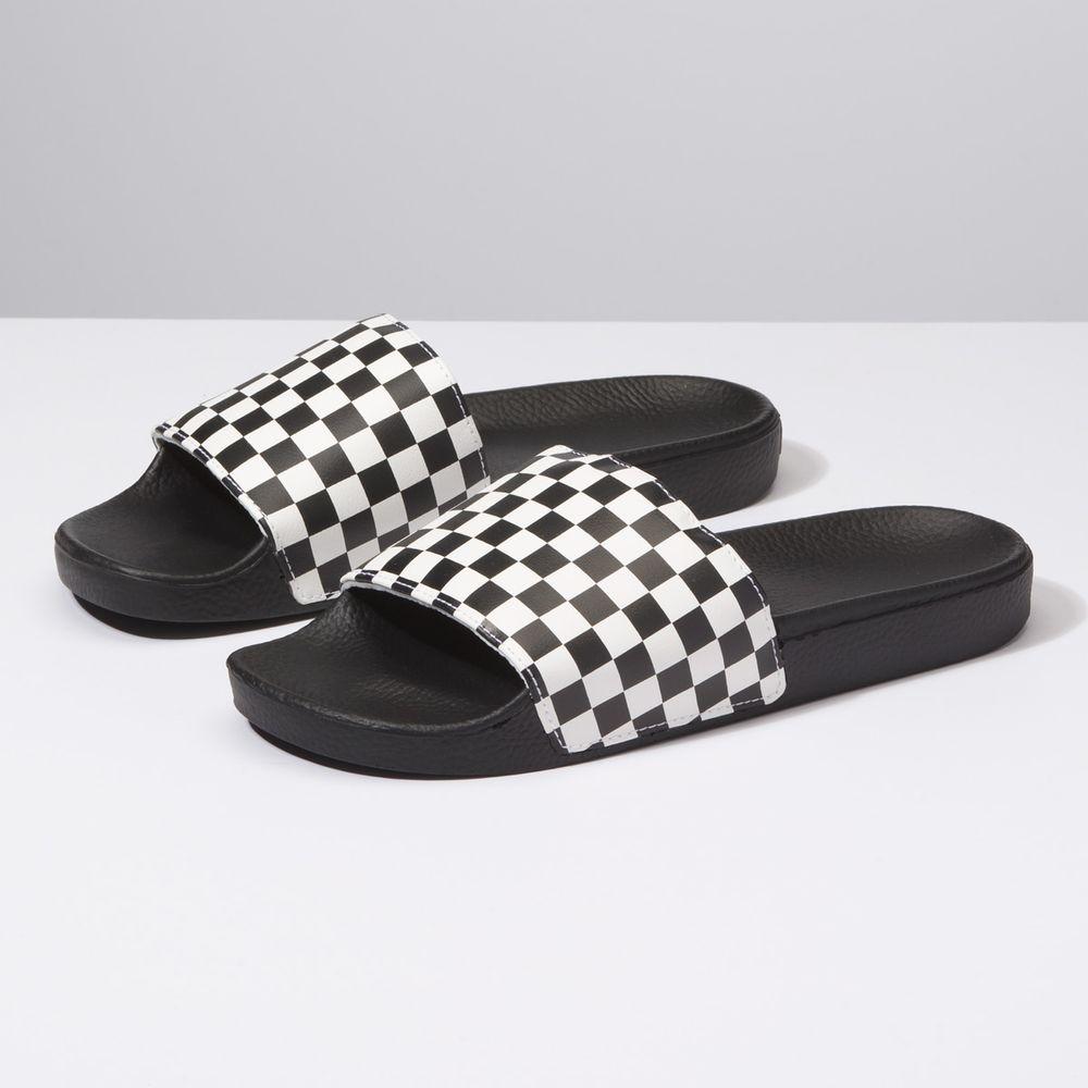 Slide-On----Checkerboard-White--10M