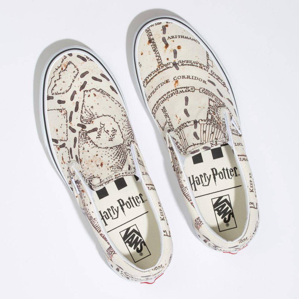 Classic-Slip-On---Harry-Potter--Harry-Potter-Marauders-Map-White--10.5M