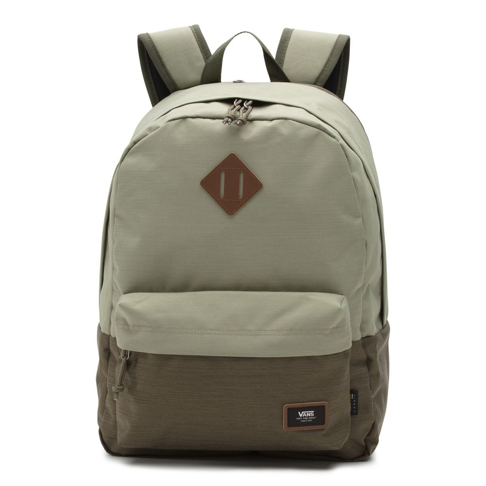 Old-Skool-Plus-Backpack--Oil-Green--OS