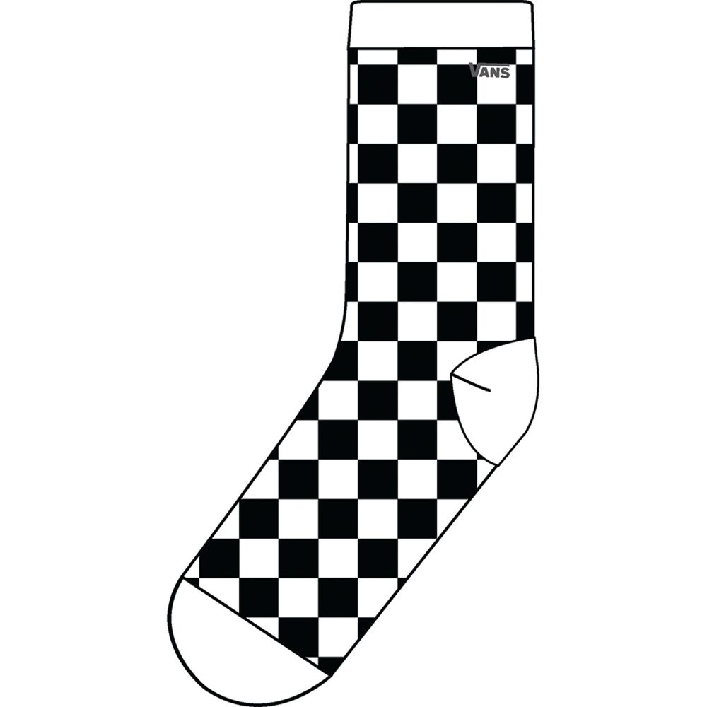 Ticker-Sock-7-10-1Pk--Black-White--OS