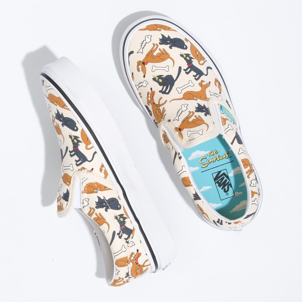 Calzado-Classic-Slip-On-The-Simpsons-Family-Pets