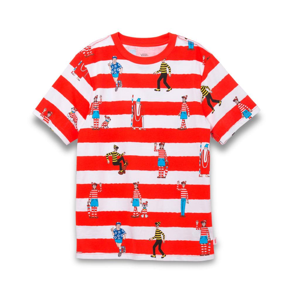 Camiseta-Vans-X-Where-S-Waldo-Stripe-Ss-Boys